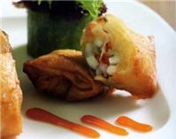 Món ngon cuối tuần: Chả giò nấm bào ngư hải sản