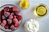 5 phút là xong ngay sữa chua dâu tốt cho sức khỏe