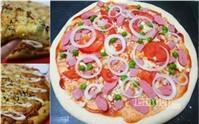 Bánh pizza xúc xích giăm bông dễ làm tại nhà