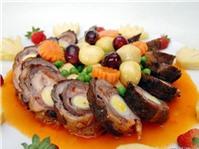 Thịt heo cuộn xốt trái cây, thịt cuốn ngũ sắc thơm ngon cuối tuần