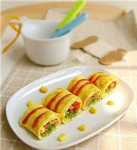 Trứng cuộn ngô - dinh dưỡng cho bữa sáng