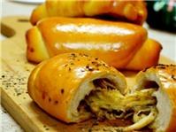 Bánh mì cuộn gà xé
