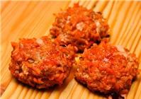 Thịt bò viên nướng xốt cà - món ngon cuối tuần