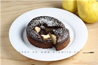 Bánh chocolate nhân lê cực lạ